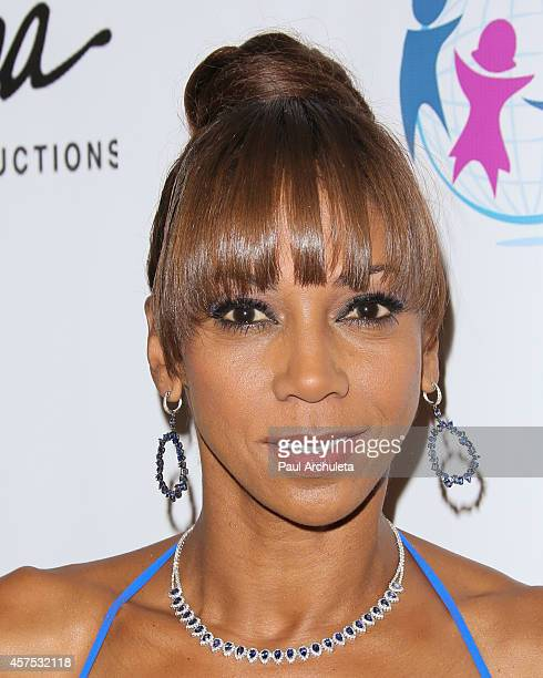 Actress Holly Robinson Peete attends the 9th annual Denim Diamonds for Autism on October 19 2014 in Westlake Village California