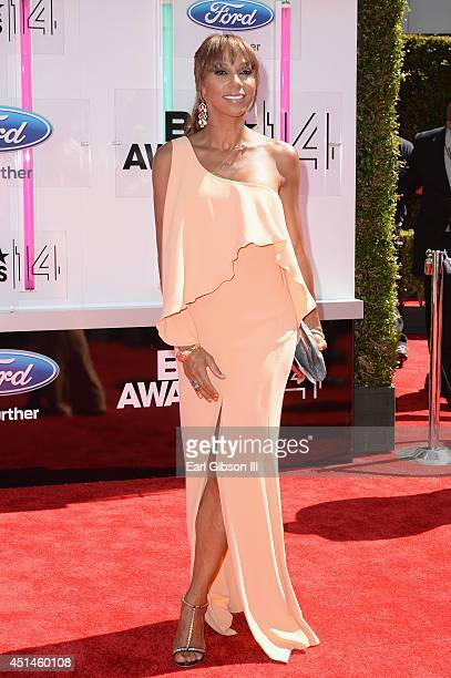 Actress Holly Robinson Peete attends the BET AWARDS '14 at Nokia Theatre LA LIVE on June 29 2014 in Los Angeles California