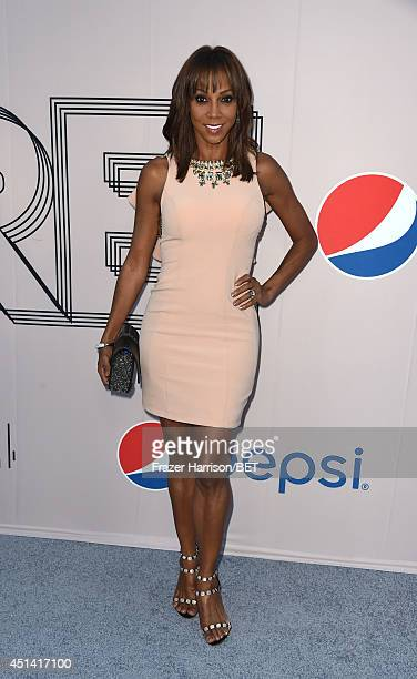 Actress Holly Robinson Peete attends the BET AWARDS '14 Debra Lee's PreDinner held at Milk Studios on June 28 2014 in Los Angeles California
