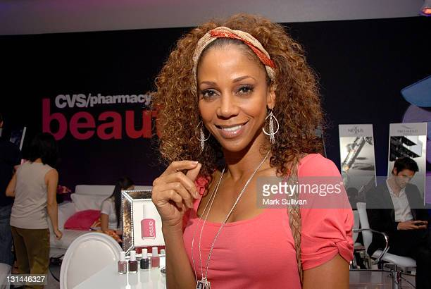 Actress Holly Robinson Peete attends the CVS Pharmacy Beauty Club at the Access Hollywood Stuff You Must Lounge produced by On 3 Productions at the...