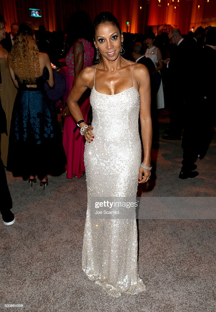 Actress Holly Robinson Peete attends The Diamond Ball II with D'USSE and Armand de Brignac at The Barker Hanger on December 10, 2015 in Santa Monica, California.