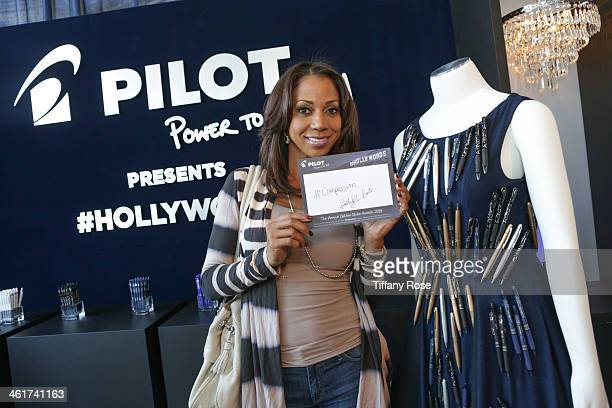 Actress Holly Robinson Peete attends the GBK Pilot Pen PreGolden Globe Gift Lounge on January 10 2014 in Beverly Hills California