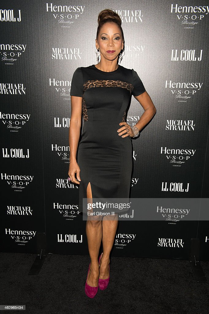 Actress Holly Robinson Peete attends the Hennessy Toasts Achievements In Music Event on February 7, 2015 in Los Angeles, California.