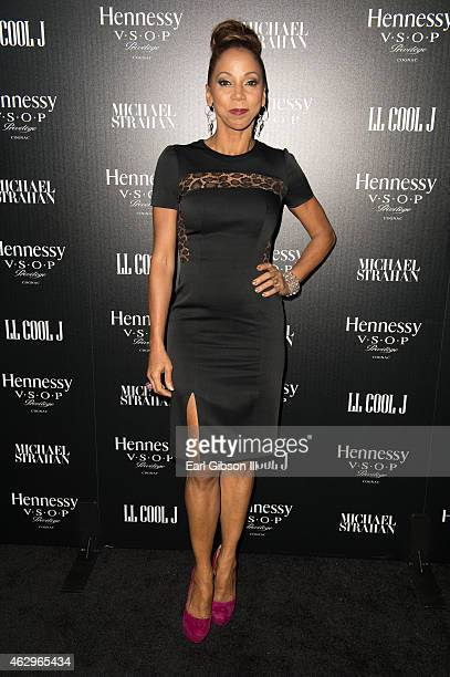 Actress Holly Robinson Peete attends the Hennessy Toasts Achievements In Music Event on February 7 2015 in Los Angeles California