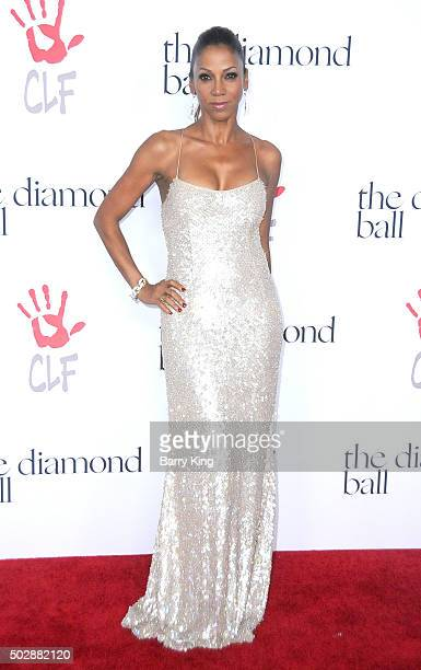 Actress Holly Robinson Peete attends the Rihanna And The Clara Lionel Foundation 2nd Annual Diamond Ball at The Barker Hanger on December 10 2015 in...