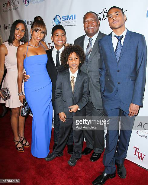 Actress Holly Robinson Peete attends with her family the 9th annual Denim Diamonds for Autism on October 19 2014 in Westlake Village California