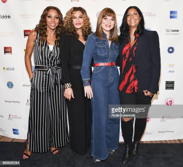 Actress Holly Robinson Peete designer/philanthropist Tina KnowlesLawson businesswoman Marilyn Booker and philanthropist/businesswoman Cookie Johnson...