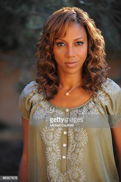 Actress Holly Robinson Peete poses during a portrait session on January 13 2010 in Los Angeles California