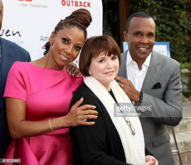Actress Holly Robinson Peete, singer Linda Ronstadt, and boxer Sugar Ray Leonard attend the 19th Annual DesignCare 2017 at Private Residence on July...