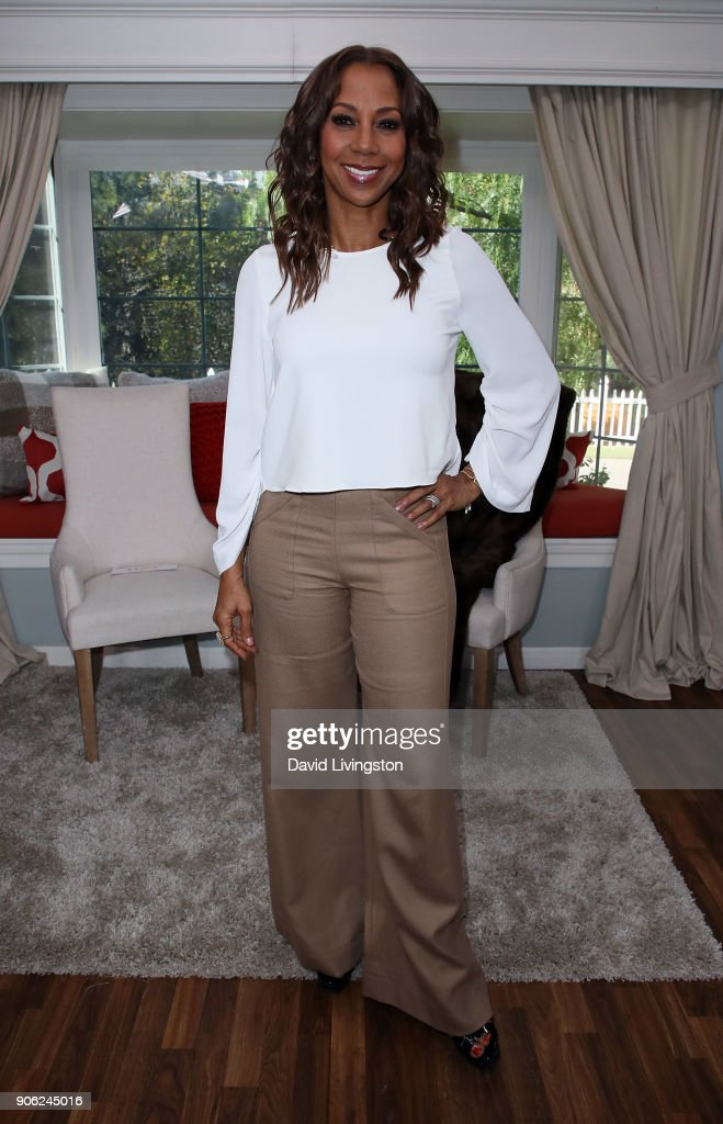 Actress Holly Robinson Peete visits Hallmark's 'Home & Family' at Universal Studios Hollywood on January 17, 2018 in Universal City, California.