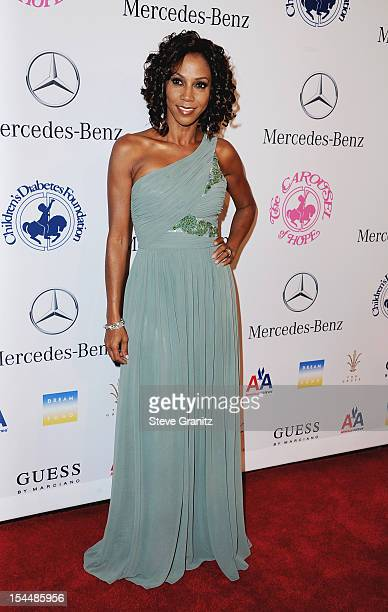 Actress Holly RobinsonPeete arrives at the 26th Anniversary Carousel Of Hope Ball presented by MercedesBenz at The Beverly Hilton Hotel on October 20...