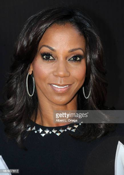 Actress Holly RobinsonPeete arrives for the 6th Annual Diamond In The RAW Action Icon Awards held at Skirball Cultural Center on November 10 2013 in...