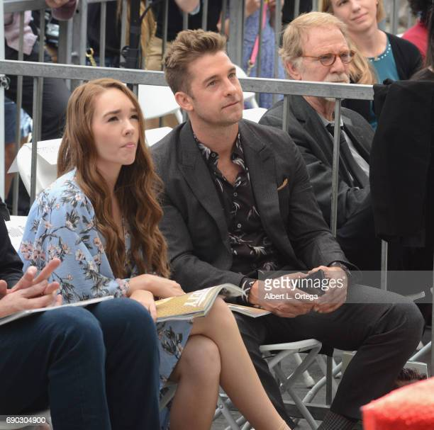 Actress Holly Taylor and actor Scott Speedman at Keri Russell 's Star Ceremony held on the Hollywood Walk of Fame on May 30 2017 in Hollywood...