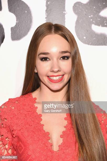 Actress Holly Taylor attends the Cushnie Et Ochs fashion show during February 2017 New York Fashion Week at Gallery 1 Skylight Clarkson Sq on...