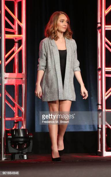 Actress Holly Taylor of the television show The Americans walks onstage during the FOX/FX Networks portion of the 2018 Winter Television Critics...
