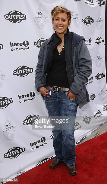 Actress Honey Labrador attends the Outfest Queer Brunch held at Grub Steak Restaurant during the 2008 Sundance Film Festival on January 20 2008 in...