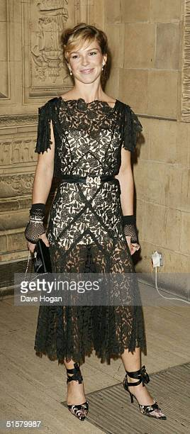 Actress Honeysuckle Weeks arrives at the 10th Anniversary National Television Awards at the Royal Albert Hall on October 26 2004 in London The...