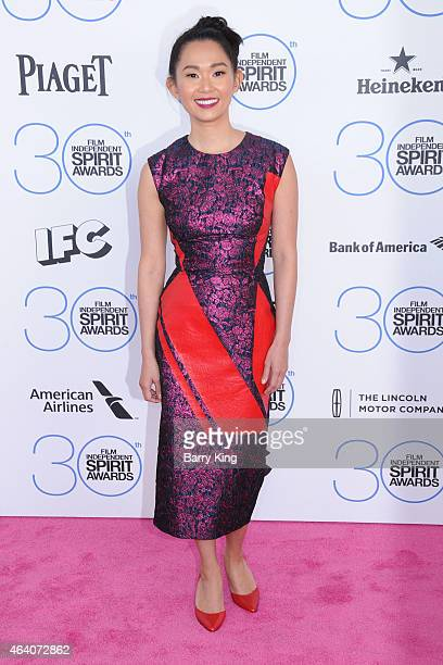 Actress Hong Chau arrives at the 2015 Film Independent Spirit Awards at Santa Monica Beach on February 21 2015 in Santa Monica California