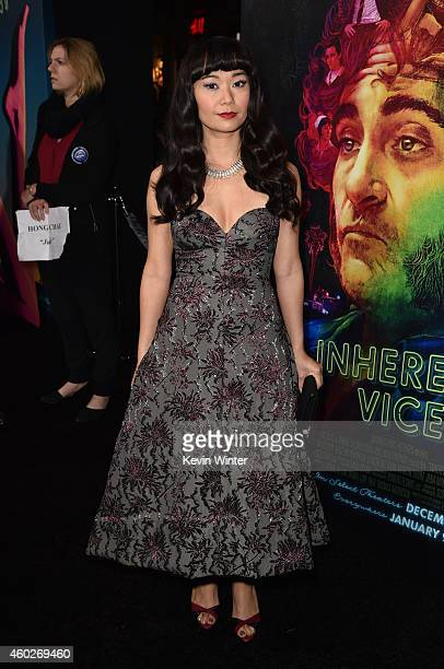 Actress Hong Chau attends the premiere of Warner Bros Pictures' 'Inherent Vice' at TCL Chinese Theatre on December 10 2014 in Hollywood California
