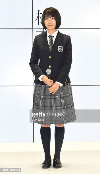 Actor Ryunosuke Kamiki attends the launch event for the new iPhone XS/ iPhone XS Max at the AU Shinjuku Store on September 21 2018 in Tokyo Japan