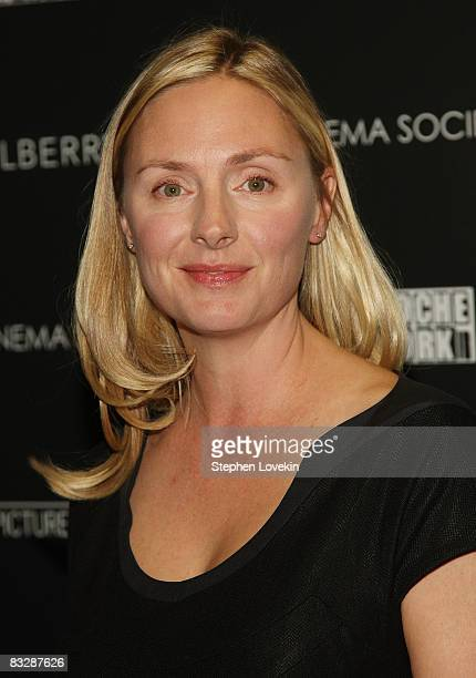 Actress Hope Davis attends The Cinema Society and Mulberry screening of Synecdoche New York at AMC Loews 19th Street East on October 15 2008 in New...