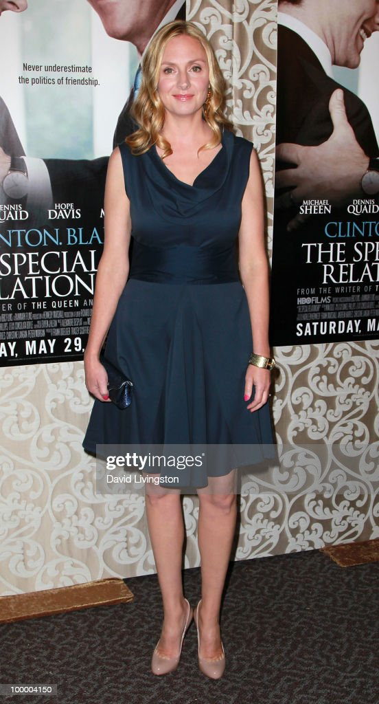Actress Hope Davis attends the premiere of HBO Films 'The Special Relationship' at the Directors Guild of America on May 19, 2010 in Los Angeles, California.