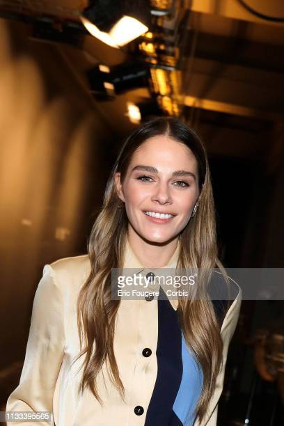 Actress host and Quebec television columnist Maripier Morin poses during a portrait session in Paris France on