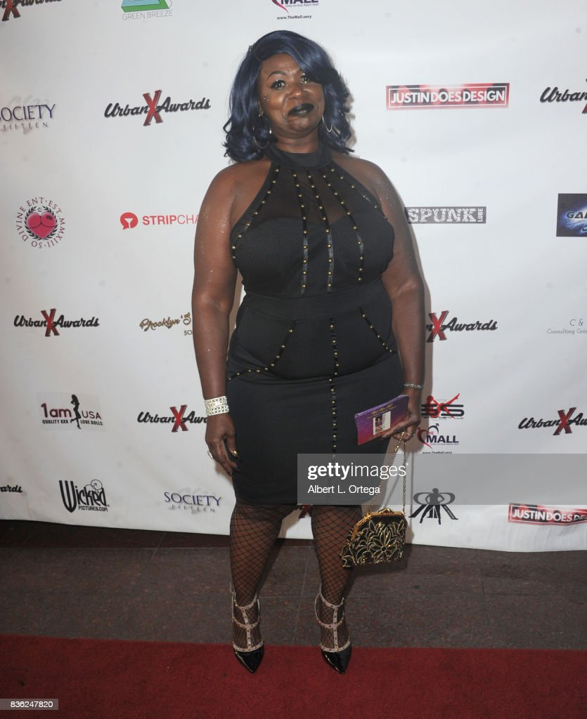 Actress Hot Chocolate arrives for the 6th Urban X Awards held at Stars On Brand on August 20, 2017 in Glendale, California.