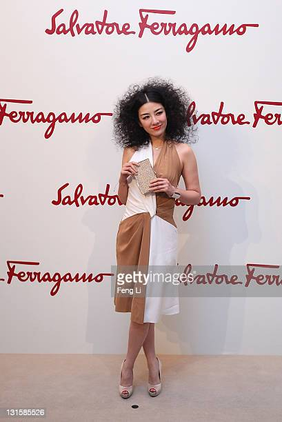 Actress Huang Yi arrives at the Salvatore Ferragamo Spring Summer show at the Ullens Centre for Contemporary Art on November 5 2011 in Beijing China