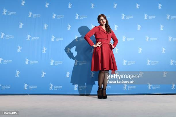 Actress Huma Qureshi attends the 'Viceroy's House' photo call during the 67th Berlinale International Film Festival Berlin at Grand Hyatt Hotel on...