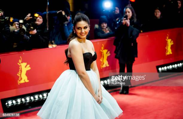Actress Huma Qureshi attends the Viceroys House red Carpet during the 67th Berlinale International Film Festival Berlin at Grand Hyatt Hotel on...