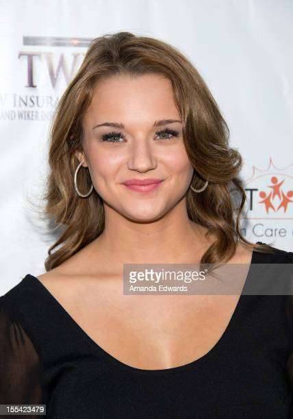 Actress Hunter King arrives at the ACT Today's 7th Annual Denim Diamonds For Autism Benefit on November 3 2012 in Malibu California