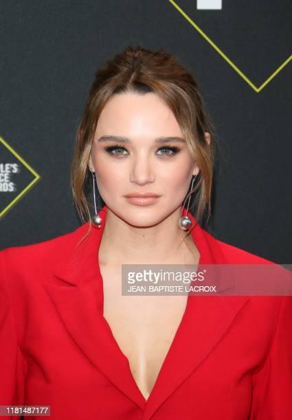 US actress Hunter King arrives for the 45th annual E People's Choice Awards at Barker Hangar in Santa Monica California on November 10 2019