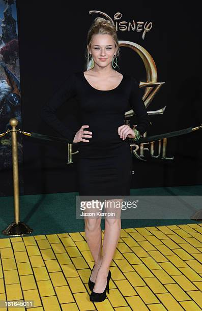 Actress Hunter King arrives for the world premiere of Walt Disney Pictures' Oz The Great And Powerful at the El Capitan Theatre on February 13 2013...