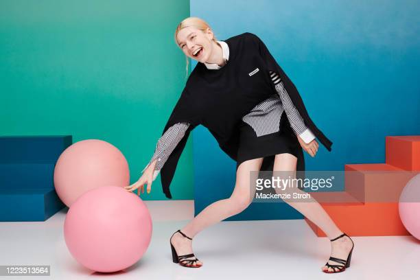 Actress Hunter Schafer is photographed for Entertainment Weekly Magazine on February 27 2020 at Savannah College of Art and Design in Savannah Georgia