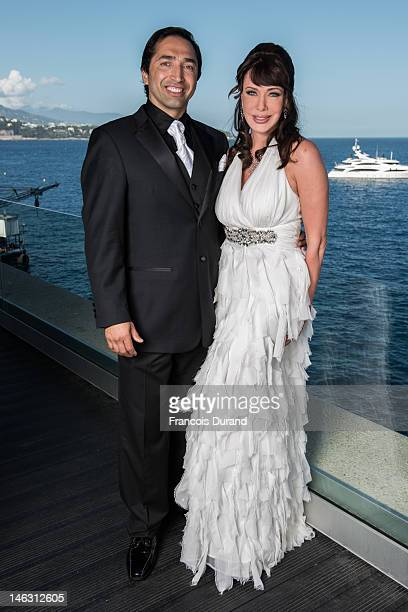 Actress Hunter Tylo and husband Gersson Archila pose for a portrait session at the Fairmont Monte Carlo Hotel during the 52nd Monte Carlo TV Festival...