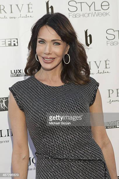 Actress Hunter Tylo arrives at SUE WONG Spring 2015 Fairies Sirens Fashion Show on October 15 2014 in Los Angeles California