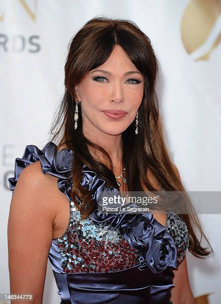 Actress Hunter Tylo arrives at the Closing Ceremony of the 52nd Monte Carlo TV Festival on June 14 2012 in MonteCarlo Monaco