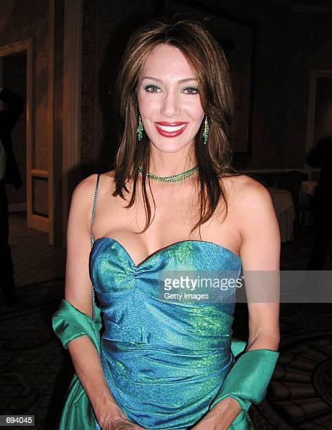 Actress Hunter Tylo attends the TV Soap Golden Boomerang Awards at the Four Seasons Hotel January 18 2002 in Beverly Hills CA
