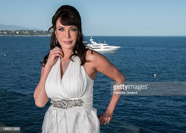 Actress Hunter Tylo poses for a portrait session at the Fairmont Monte Carlo Hotel during the 52nd Monte Carlo TV Festival on June 13 2012 in Monaco...