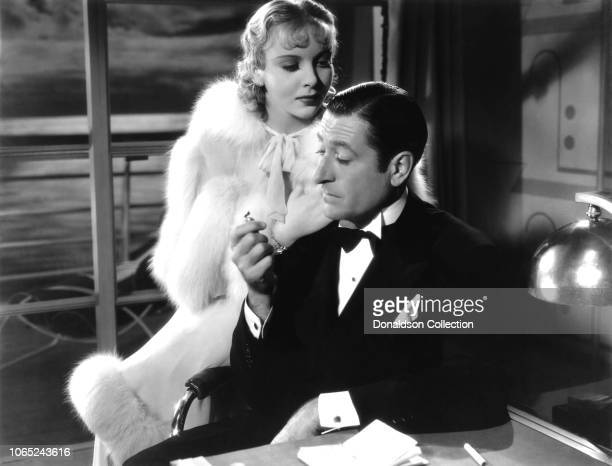 Actress Ida Lupino and Arthur Treacher in a scene from the movie Anything Goes