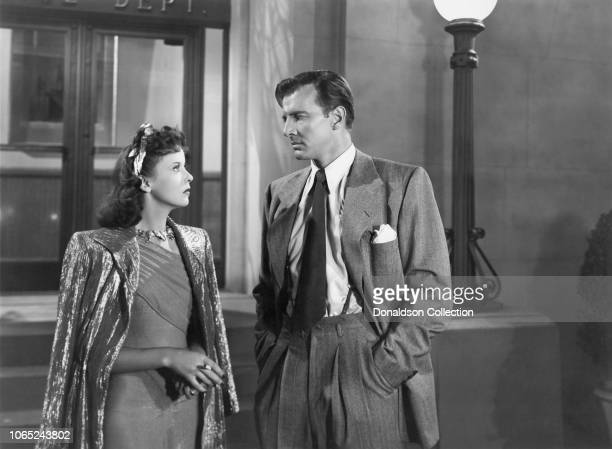 Actress Ida Lupino and Bruce Bennett in a scene from the movie The Man I Love