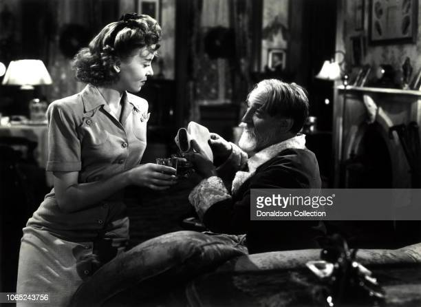 Actress Ida Lupino and Monty Woolley in a scene from the movie Life Begins at EightThirty