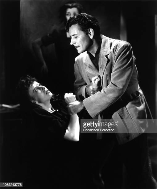 Actress Ida Lupino and Ronald Colman in a scene from the movie The Light that Failed
