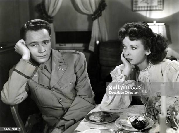 Actress Ida Lupino and William Prince in a scene from the movie Pillow to Post