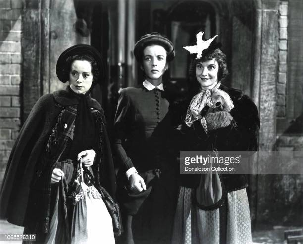 Actress Ida Lupino Edith Barrett Elsa Lanchester in a scene from the movie Ladies in Retirement