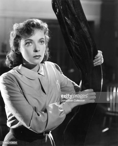 Actress Ida Lupino in a scene from the movie On Dangerous Ground
