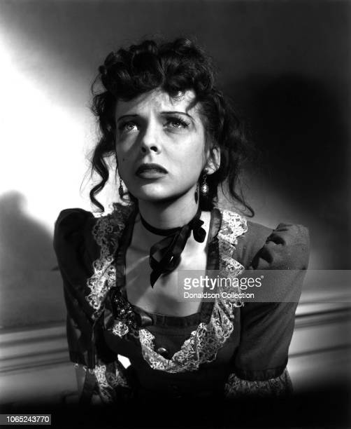 Actress Ida Lupino in a scene from the movie The Light that Failed
