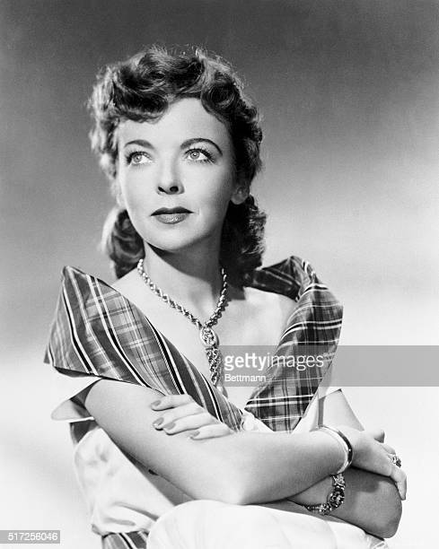 Actress Ida Lupino is shown in a head and shoulders publicity photo Ca 1950