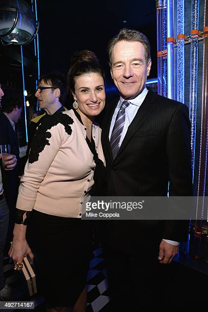 Actress Idina Menzel and actor Bryan Cranston attend the 2014 Tony Nominees' Luncheon at the Paramount Hotel's Diamond Horseshoe on May 20 2014 in...